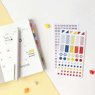 Only 2 Instocks! Basic Diary Sticker Set (Red)