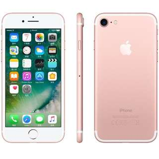 iPhone 7 rose gold 玫瑰金 128GB