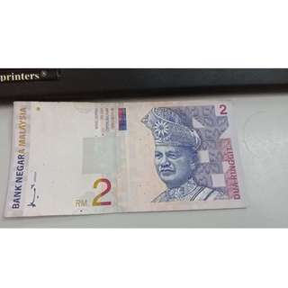 RM 2 note with negotiable price