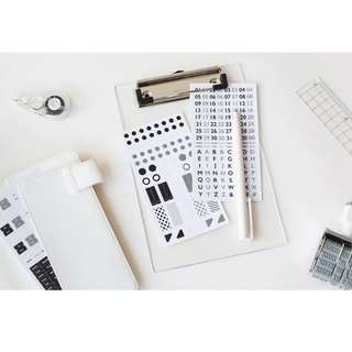 Only 1 Instock! Basic Diary Sticker Set (Black)