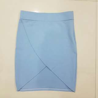 Brandnew Highwaist Fitted Pencil Cut Slit Split Front Skirt