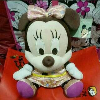《全新》35cm米妮娃娃布偶/旗袍裝中型娃娃