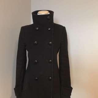 Aritzia Babaton black wool coat