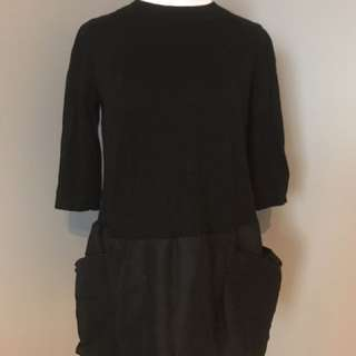 COS black tunic dress with pockets