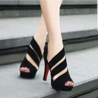Roman Black High Heels