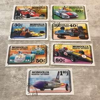 汽車 舊郵票