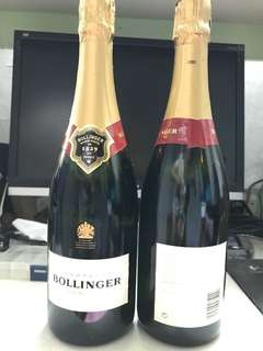 Bollinger champagne 75cl  two bottle