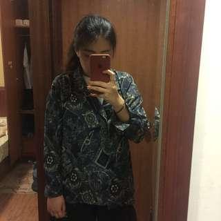 更新囉)多圖,藏藍色古著襯衫