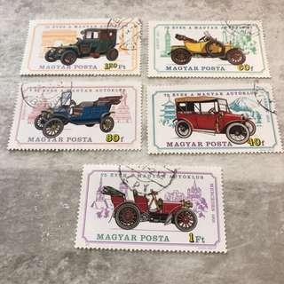 汽車舊郵票 古董車