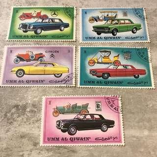 汽車舊郵票 老爺車