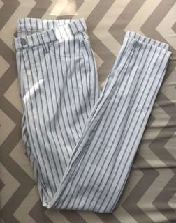 Uniclo striped pants