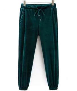 (New+Tags) Zaful Velvet Jogger Pants