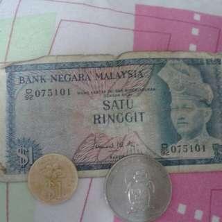 Duit Kertas Lama sign ISMAIL MD ALI *Thn92..syiling emas *thn 91..syiling rm1 besar *thn 86)....ANDA BUKA HARGA OK..…