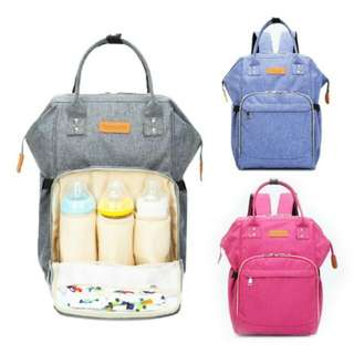 FREE POS Ready Stock Multi-functional Mummy Backpack Diaper Baby Infant Nursing Bag