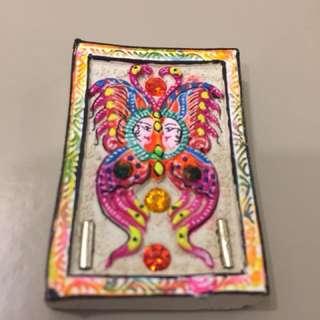 Butterfly Amulet medium block , blessed by Kruba Krissana