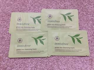 Innisfree green tea facial foam sampler