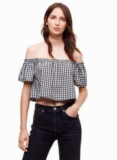 Wilfred Black & White Off Shoulder Top