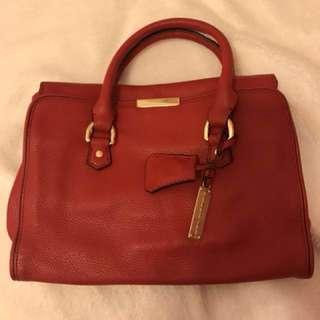 Rabeanco 紅色真皮手挽袋