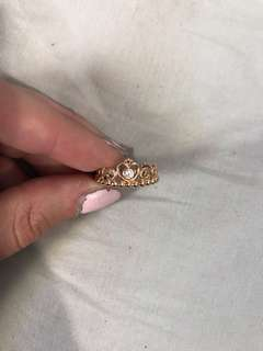Rose Gold Princess Ring Pandora