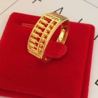 Gold Abacus sand gold color model gold plated Ring