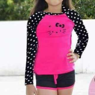 HELLO KITTY RASHGUARD set