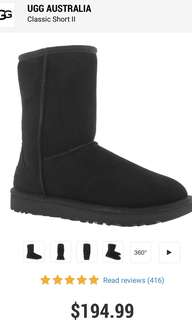 Size 7 Classic Black Uggs