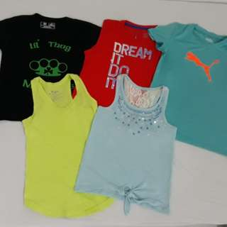 Summer and sports apparel for girls