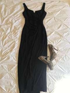 Le Chateau black long dress (XL)