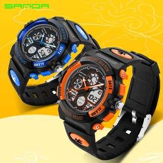 Fashion Children's Watch LED Digital Sports Watch Multi-function Waterproof Watch For Boy Girl student