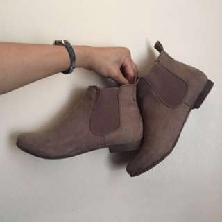 Call it Spring - Taupe Suede Boots