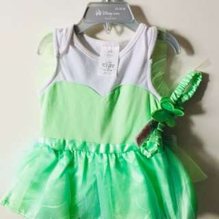 BNWT Authentic Disney Baby Tinker Bell Costume