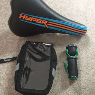 Bike seat and accessories