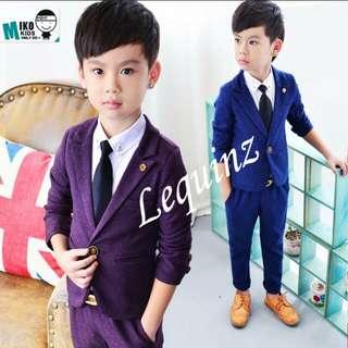 Boys Coat and pants Flower Boys 2pc suit