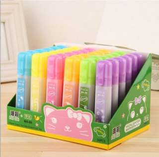 Korean Stationery High-Capacity Creative Colour Highlight Send Colour Marker