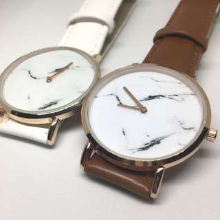 🎉 SALE 🎉Marble minimalist leather watch