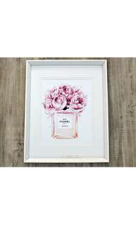 A4 Chanel print; Pretty in Pink