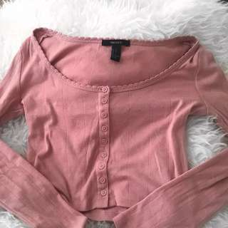Nude Crop Top (peach pink colour)