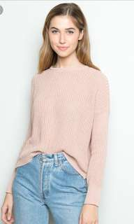 Brandy Melville Pink Sweater