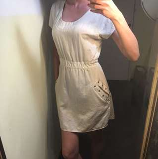 Minkpink cream dress