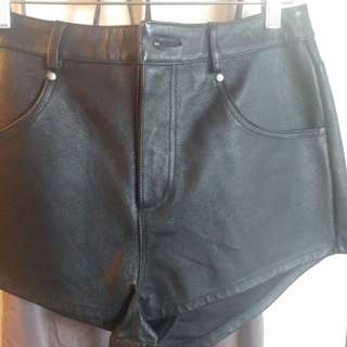 Urban Outfitters BDG high waisted genuine leather shorts size 30