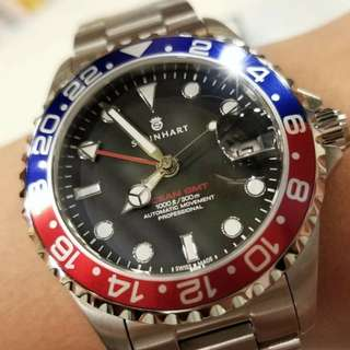 Steinhart Ocean One 39mm Red/Blue