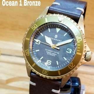 行貨 Steinhart Ocean 1銅🦐  二年保用 瑞士製造 42mm  ETA2824自動瑞士機芯