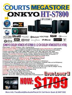 ONKYO HTS7800 Dolby Atmos & DTS:X Home Theatre System