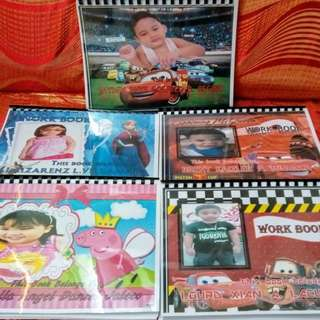 personalized work book for kids