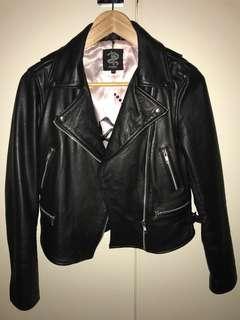 Wheels & Doll Baby Genuine Leather Jacket