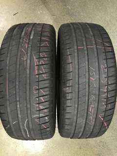 225/45/17 michelin 2pc used tyre 75% tread $70pc