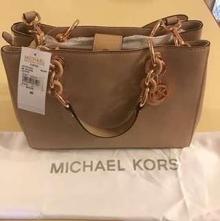 Michael Kors - Cynthia pale pink satchel