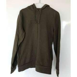 ASOS Dark Khaki Oversized Hoodie with Pocket On Side