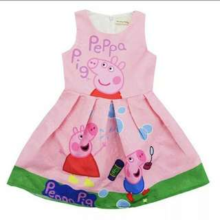 Peppa Pig Dress Pink Girls Birthday Party Dress