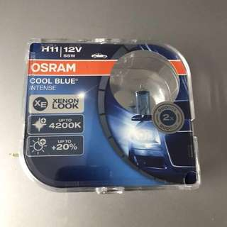 Brand New H11 Osram Cool Blue Intense 4200k Headlamp Headlight Bulbs